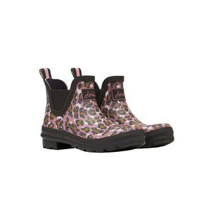 JOULES Wellibob Pink Leopard Short Rubber Rain Boots 8 NEW